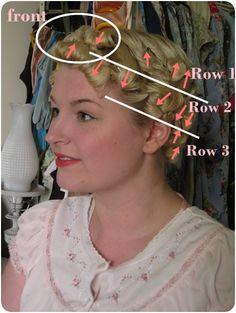 Va-Voom Vintage: Tutorial: Rita Hayworth Pin Curl Waves