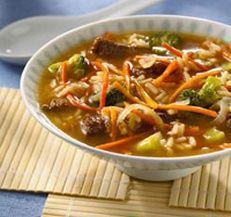 Teriyaki Beef Soup (5 Points+) #WeightWatchers #HealthyRecipes #Soup