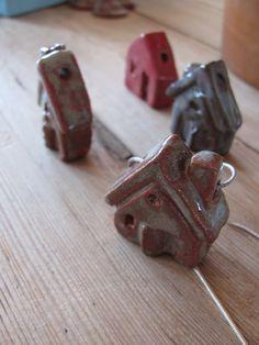 ceramic house pendants