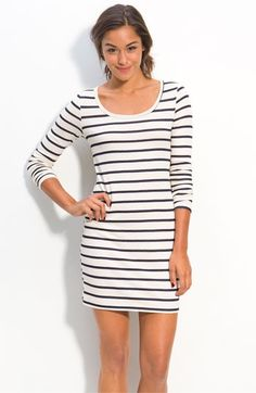 Lush Fitted Nautical Stripe Dress (Juniors)   Nordstrom - StyleSays