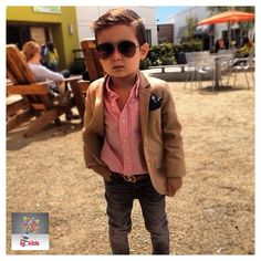 Cute little boy with great style!