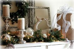 ~A Christmas Tour & Vignettes~wrap candles with sheet music