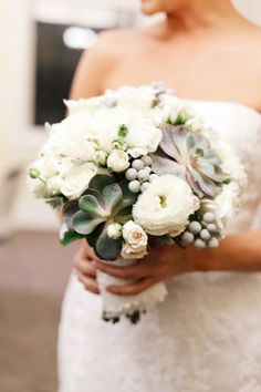 Arrangements with Succulents Wedding Flowers Photos on WeddingWire  #wedding #flowers #winter #bouqet #fashion #style #holidays