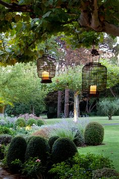 hanging outdoor lamps.