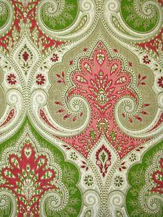 Latika Geranium. Pink and Green fabric.