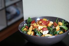 kale and chorizo salad, in praise of leftovers