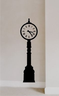 clock wall decal