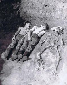 """On Monday, December 13, 1920, it's reported that brothers Jason and Jimmy Garret found a """"treasure map"""" stuck to a tree with a knife. Based on their parent's account, the boys weren't believed and were promptly sent outside. The above picture was slipped under the front door of the Garret farmhouse one year later. No map was ever found and neither boy was ever seen again."""
