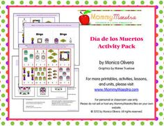 Day of the Dead Activity Pack for Pre-K and Kindergarten. $