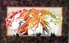 earth wind, quilt kit, hors, bigfork bay, fire pattern, toni whitney, appliqu, bay cotton, critter quilt