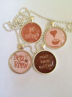 Coffee Time Pendant Necklace by joytoyou41 on Etsy, $20.00