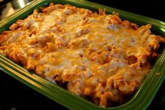 Cheesy Chicken Enchilada Pasta with recipe