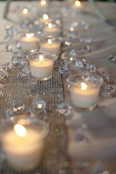 Crystals and votives