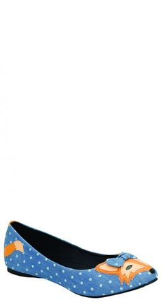 TUK Shoes Foxy Dot Flat in Denim | Blame Betty