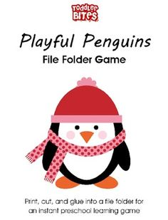 Here's a file folder game for counting. Students must look at the number on the penguin and place the correct number of snowflakes to match.  Free.