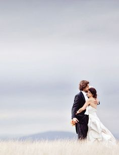 Want one like this for sure. *intimate moment for bride & groom in field* must find a field or field-like place!
