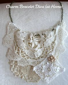 VIntage Doily Bib Necklace (Anthro Layers of Grace Knock-off)