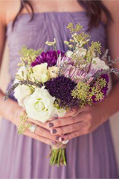 gerber daisies, idea, color schemes, lavender weddings, colors