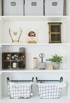 +on a shelf