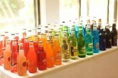 Colourful bottled drinks