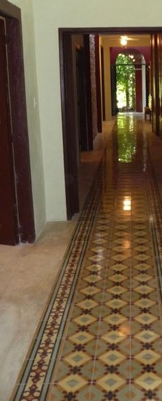 Cement Tile rug for the hallway
