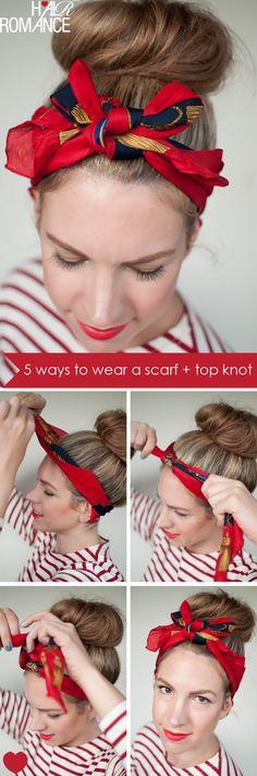 head scarfs, hair romance, headband, beauti, hair scarv, tie a scarf, scarf hairstyl, silk scarves, knot