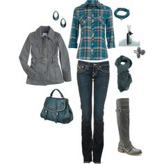 cute outfits for women over 40 jeans | Cute Casual Outfits | Teal and grey casual | Fashionista Trends