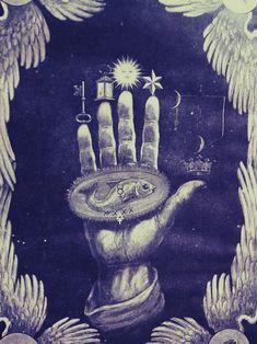 hand with mystic symbols