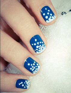 This manicure is too perfect for winter!