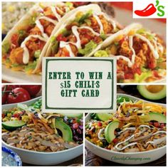 Enter to WIN a $15 Chili's Gift Card - Cleverly Changing
