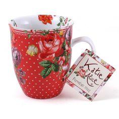 Katie Alice - Scarlet Posy Porcelain Red Floral Mug
