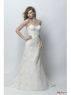 Glamorous Sweetheart Trumpet/Mermaid Ivory Lace Wedding Dresses