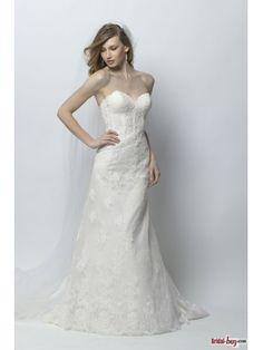 Trumpet/Mermaid Ivory Lace Wedding Dresses