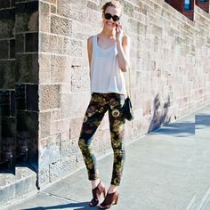 #stealthelook #look #looks #streetstyle #streetchic #moda #fashion #style #estilo #inspiration #clothes #roupas #print #calça #floral #skinny