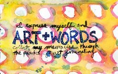 Lot's of tips on how to get started with your art journal