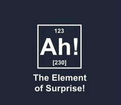 Elisa's Chemistry Pun Jokes (and incidentally, Aiden's initials)