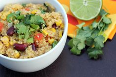 Spicy Quinoa with Kidney Beans, Corn and Lime - Rice and Beans Budget Recipe