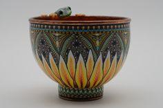 "Jon Stuart Anderson, ""Frog bowl"". Polymer clay Art"