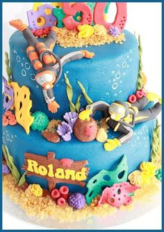 Scuba Divers!  Cake by dutchcakes