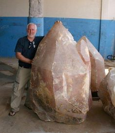 Very large rose quartz crystal