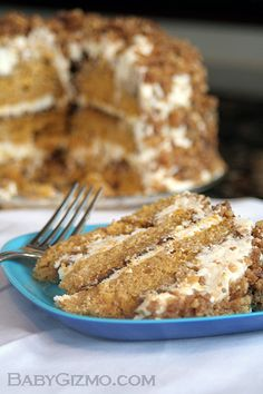 Pumpkin Crunch Cake...deliciously divine for fall. sweet, crunches, cakes, food, pumpkins, pumpkin crunch, crunch cake, recip, dessert