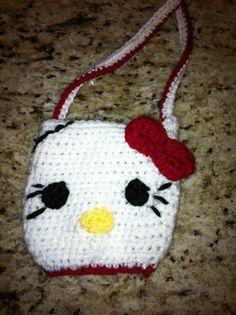 Crochet Hello Kitty purse.  (My daughter loved it!)