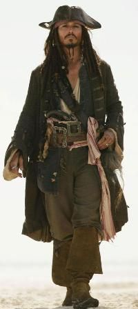 johnny depp  as jack sparrow.