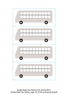 Here's a packet with all kinds of counting and place value resources, including these double decker bus ten frames.