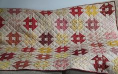 TownMouse - reds yellows churn dash quilt