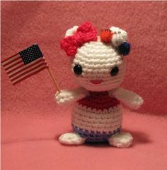 #Crochet Independence Day Hello Kitty