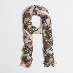 FACTORY CAMO SCARF item b1777 valued at $46.50 your price $34.50 COLOR: camo pink $34.50