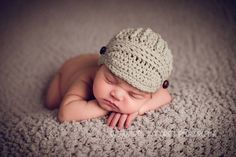 Crochet pattern for Unisex Freedom Fighter Newsboy Beanie Hat - 9 sizes - preemie/doll to large adult
