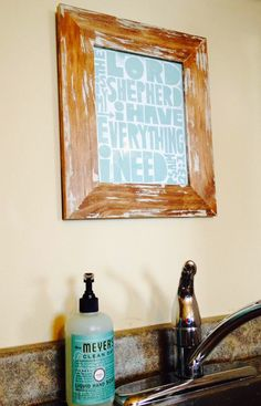 In the kitchen: adding a rustic frame with simple printable
