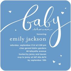 Baby Shower Invitations Little Fancy - Front : Sky Martini
